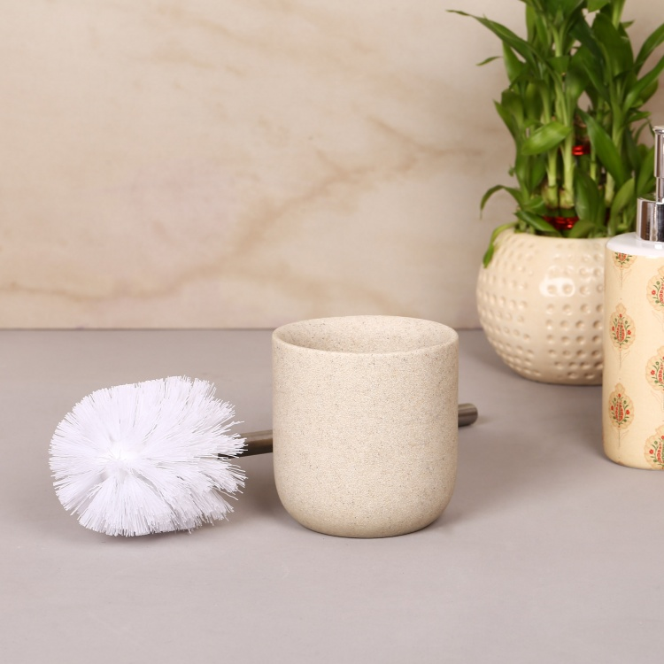 Hudson Zen Polyresin Toilet Brush With Holder
