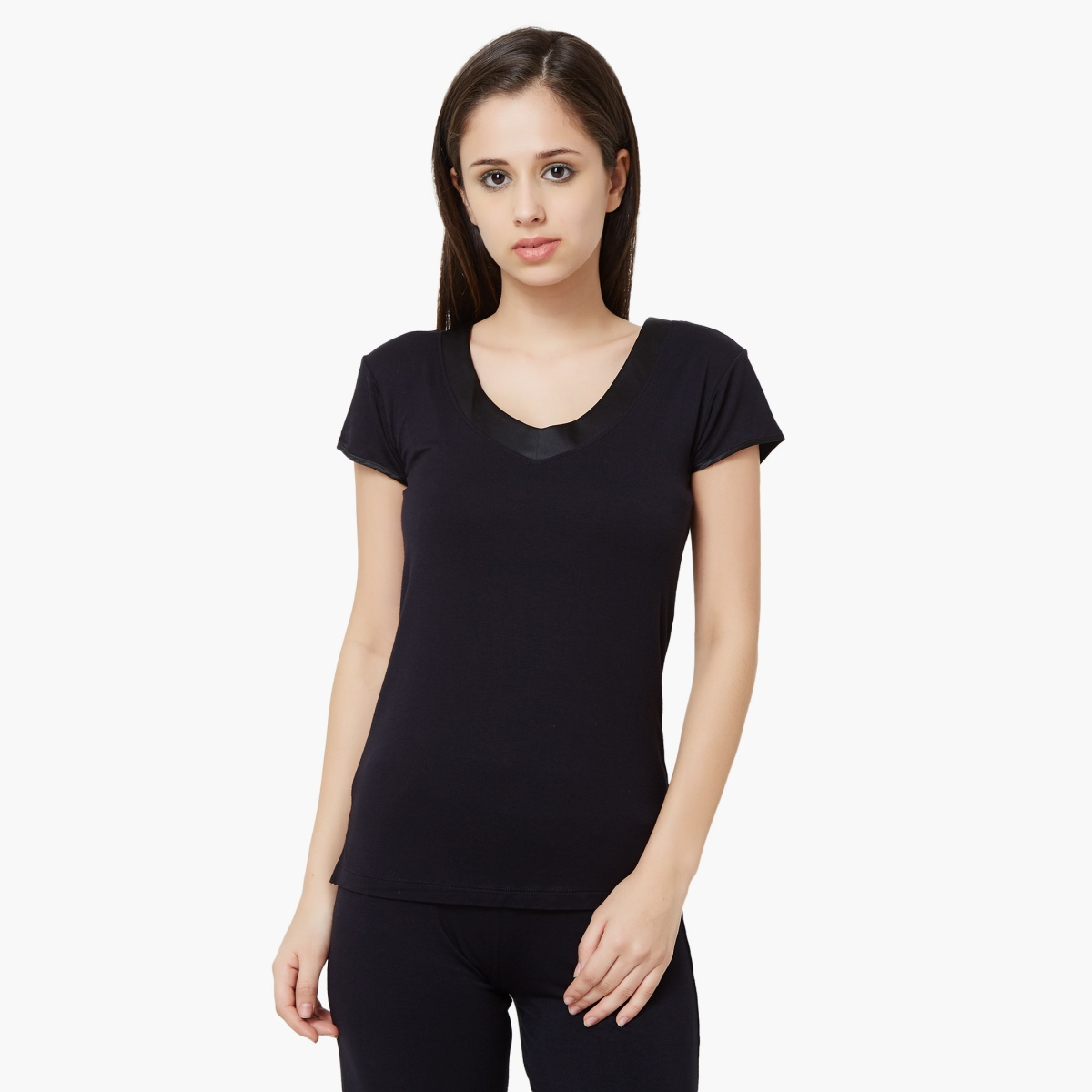 AMANTE Satin Trim Sleepwear T-Shirt