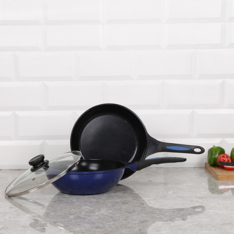WONDERCHEF Frying Pan And Wok With Glass Lid