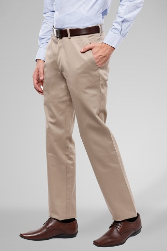 LOUIS PHILIPPE Flat Front Trousers