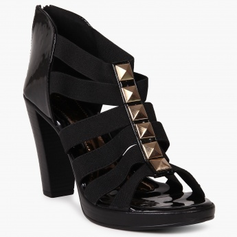 CATWALK Strappy Patent Finish Heels