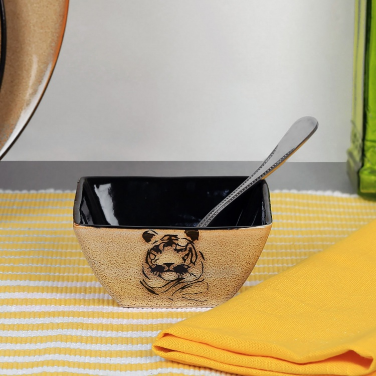 Imperial Tiger Square Dip Bowl