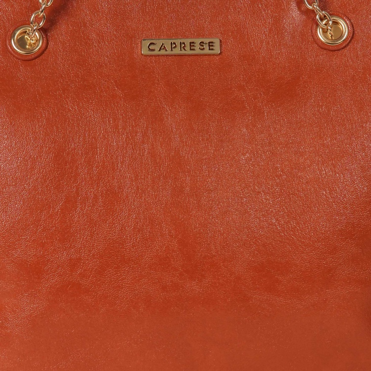 CAPRESE Tan Metallic Jewel Tote Bag
