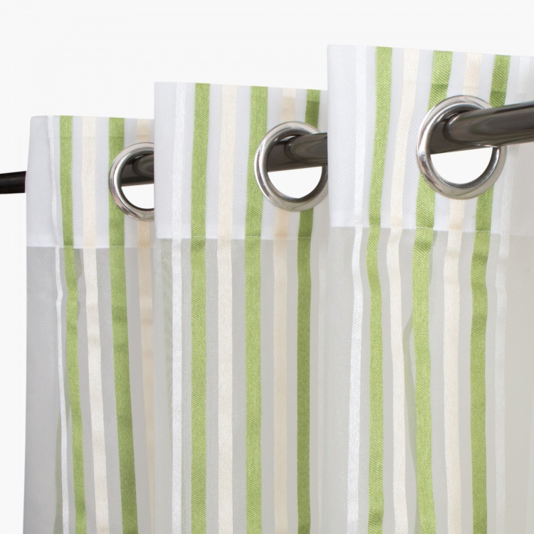 Aspen Mistletoe Sheer Door Curtain-Set Of 2-110 x 225 CM