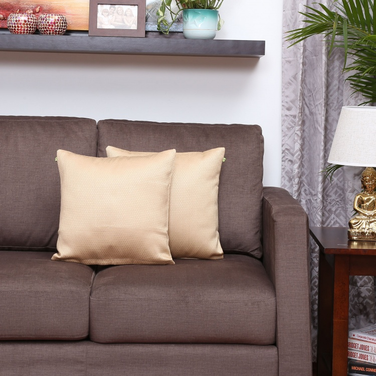 Aspen Solid Cushion Covers - Set Of 2 - 40 x 40 CM