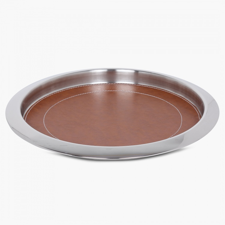 Wexford Tan Leather Bar Tray