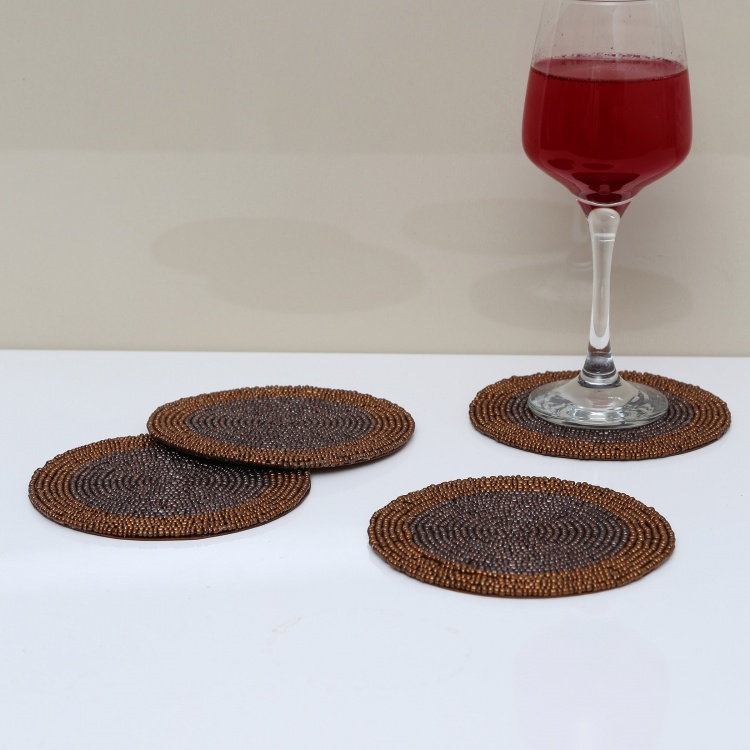 Cinder Beaded Coaster - Set Of 4
