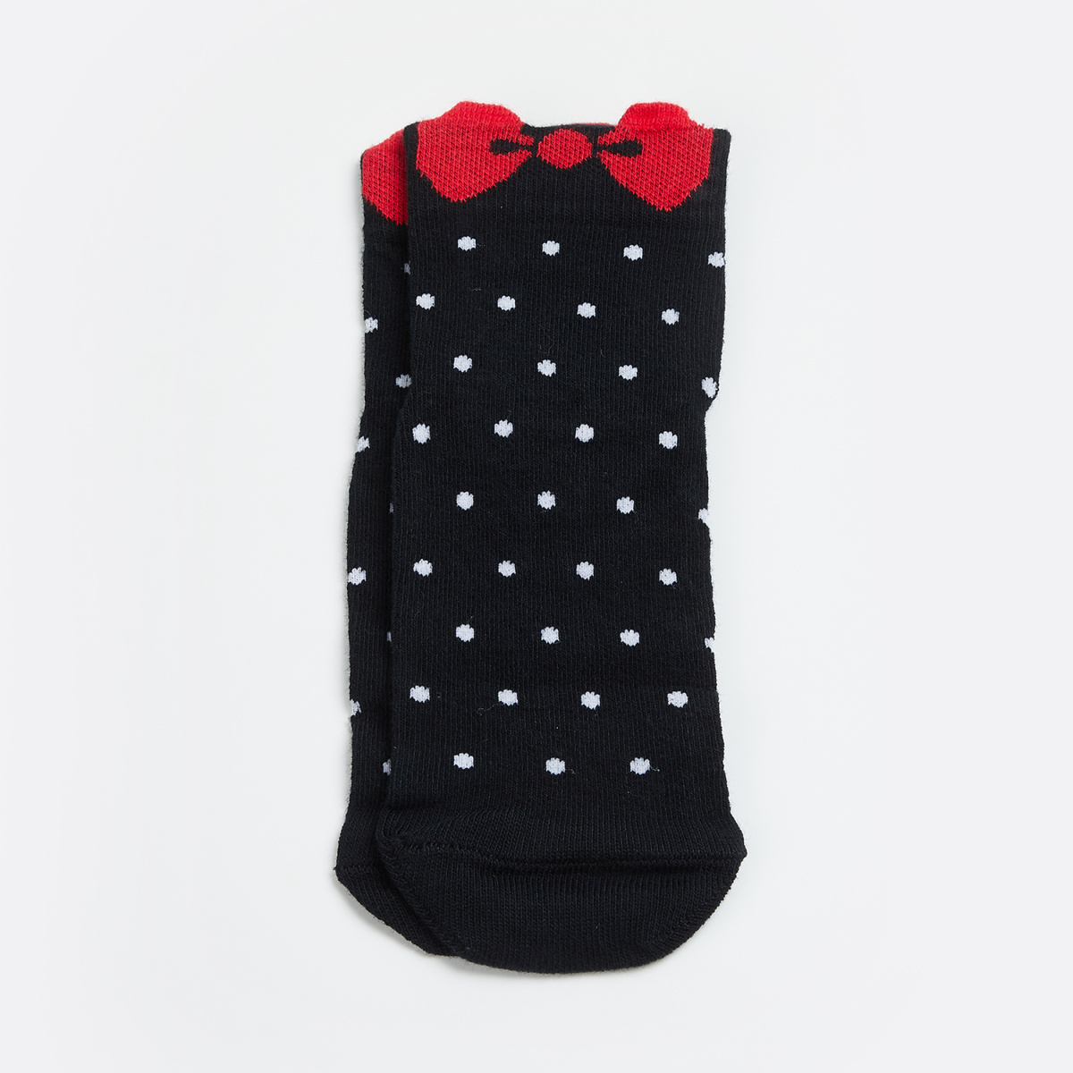 GINGER Women Patterned Knit Socks with Bow
