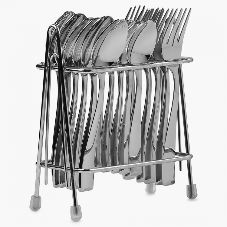 Glister Dune Cutlery Set-18 Pcs and 1 Stand