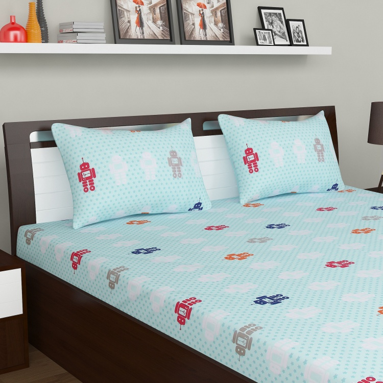 Adventures of U-tron Double Bedsheet Set-3pc