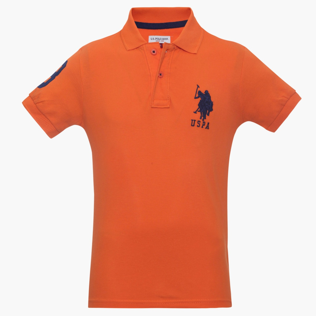 U.S. POLO KIDS Logo Patch Polo Neck T-Shirt