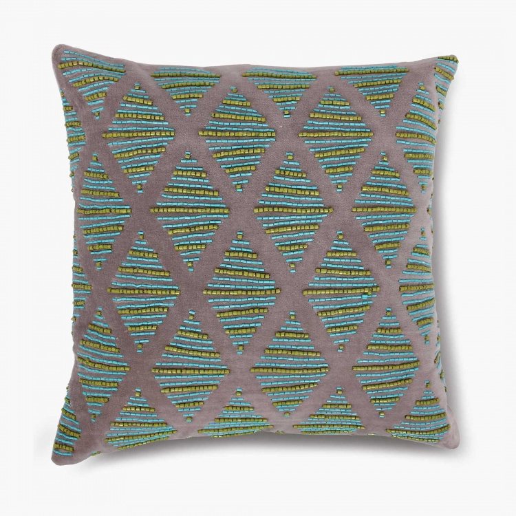 Matrix Ellora Embellished Cushion Cover-40x40cm
