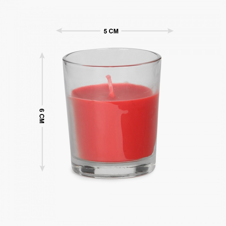 Splendid Floral Garden Shot Glass Votive Candle