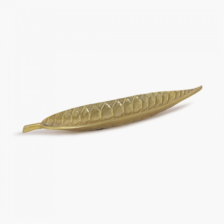 Splendid Austin Etched Long Leaf Platter