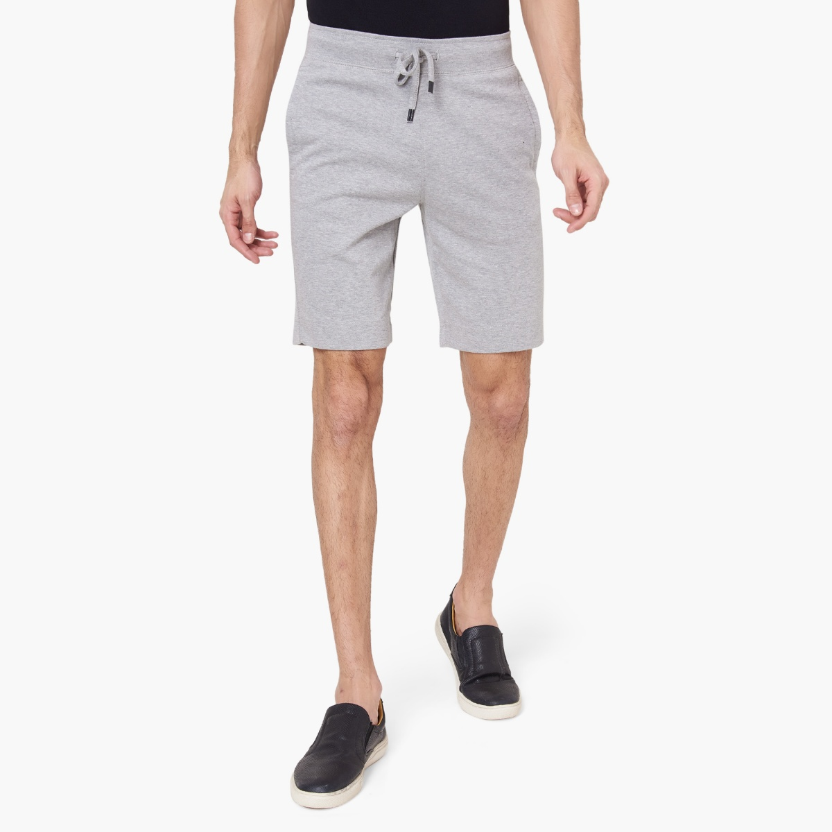 FAHRENHEIT Solid Knee Length Shorts