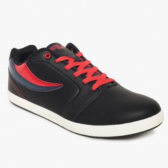 FILA Contrast Panel Quincey Lace-Up Sneakers