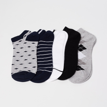 CODE Knitted Woven Design Socks- Set of 5 pcs.