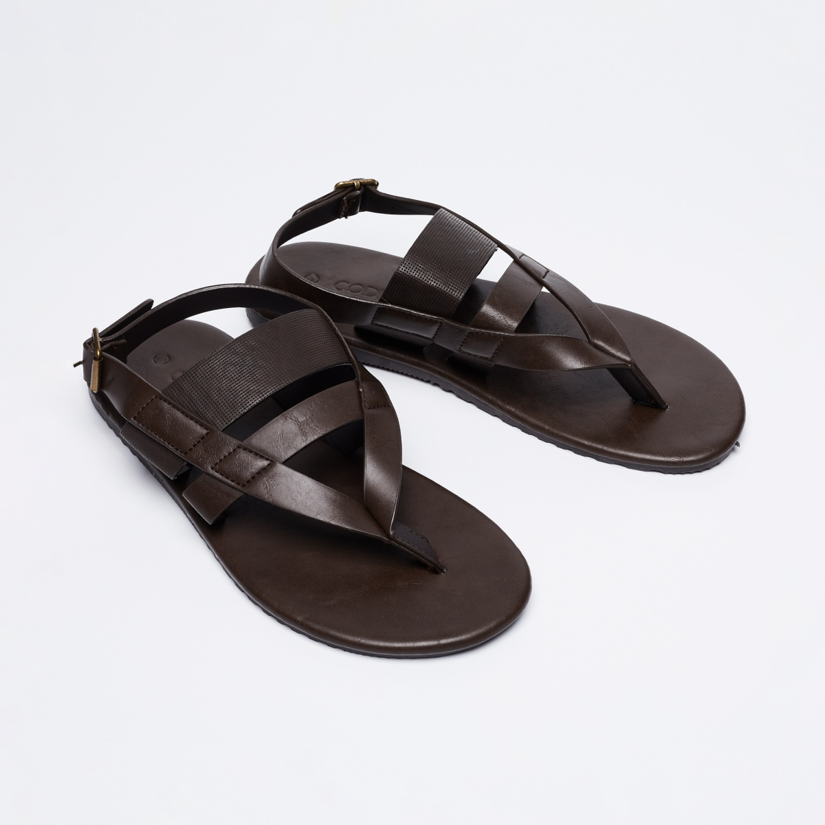 CODE Buckle Closure Strappy Sandals
