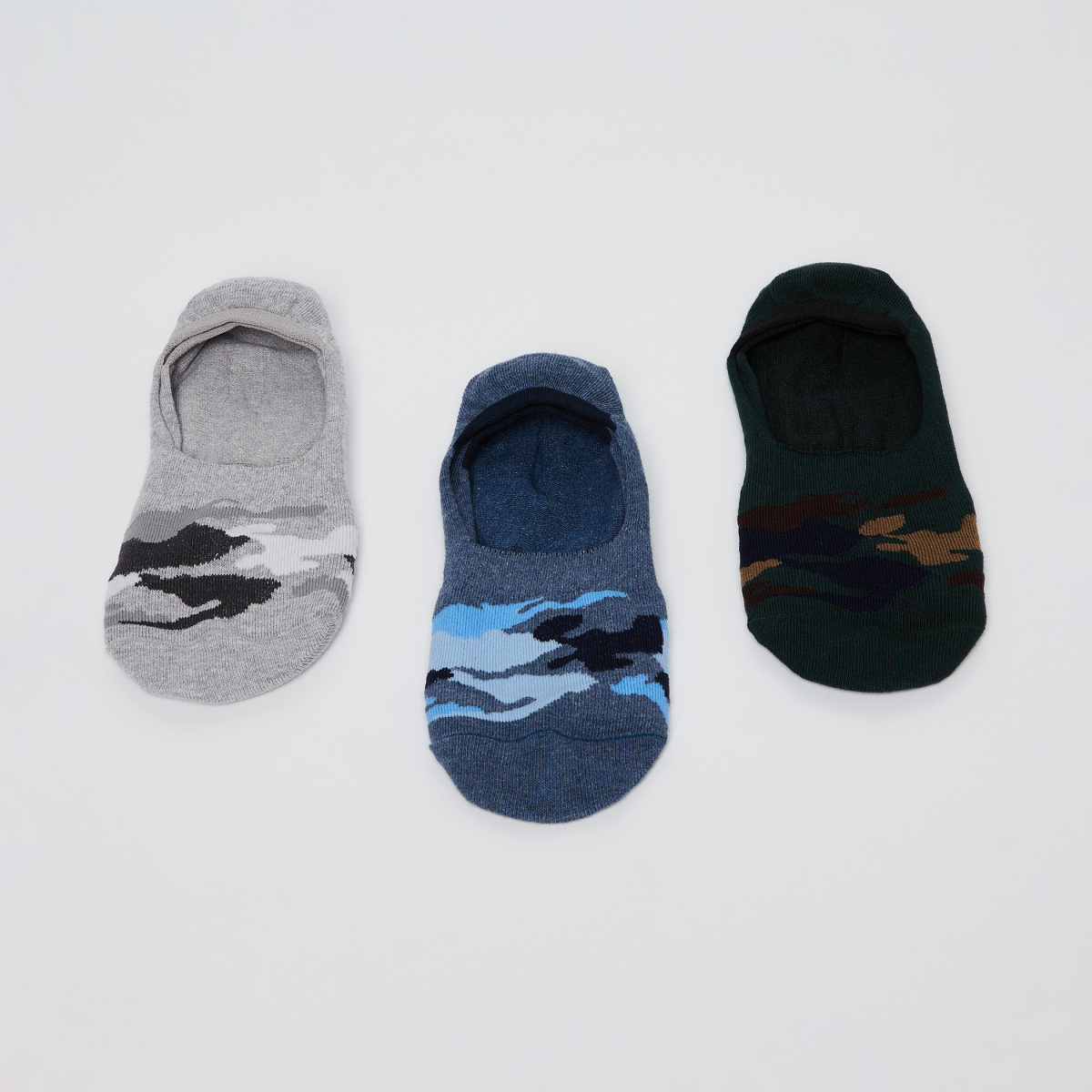 FORCA Camouflage Footie Socks- Pack of 2 Pairs