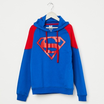 KIDSVILLE Superman Print Drop-Shoulder Hoodie