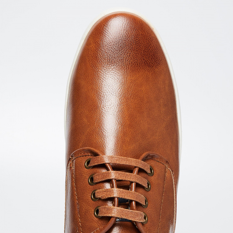CODE Solid Lace-Up Shoes