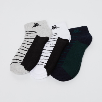 KAPPA Jacquard Stripes Ankle Socks- Pack of 3 Pairs