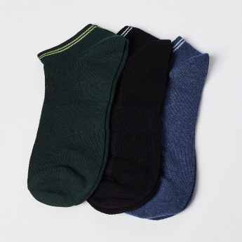 FORCA Knitted Woven Design Socks- Set of 3 pcs.