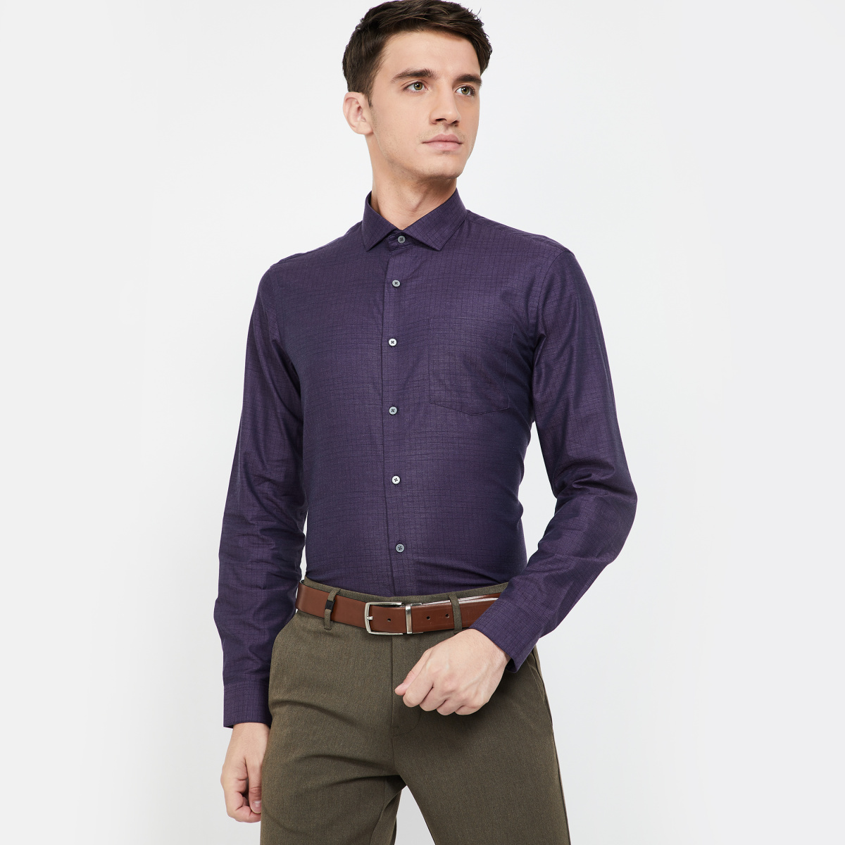 ARROW NEW YORK Checked Slim Fit Formal Shirt