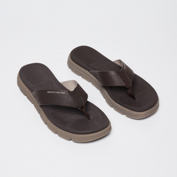 SKECHERS Panelled Thong Sandals