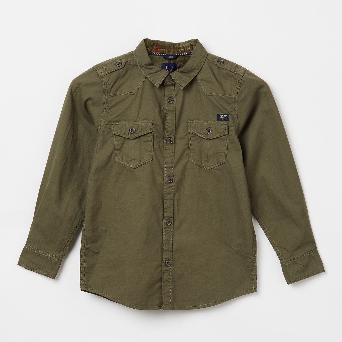 ALLEN SOLLY Solid Casual Shirt