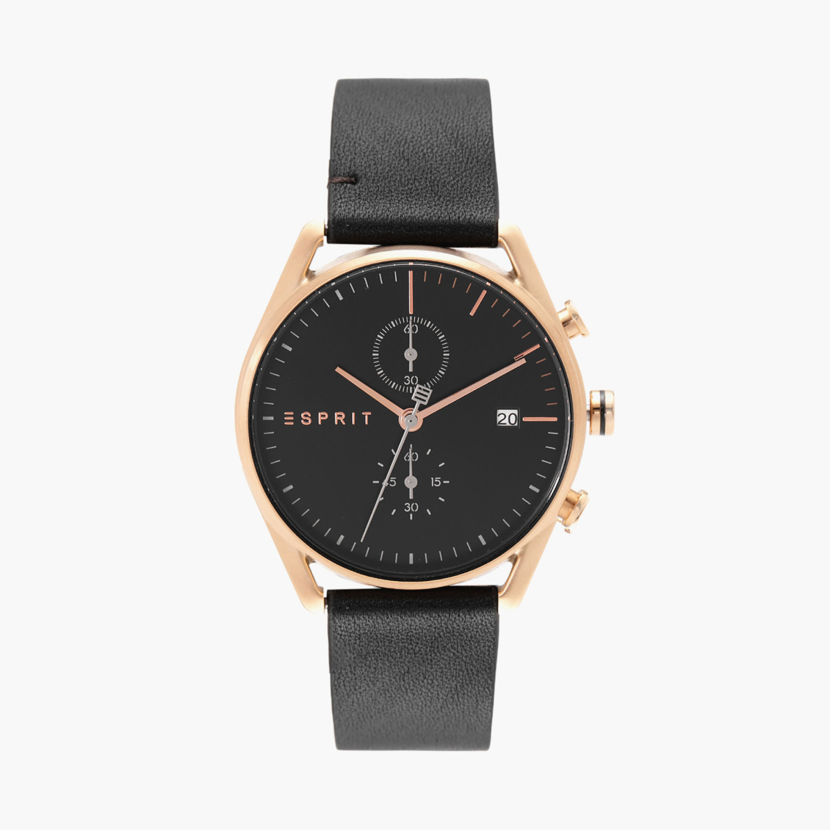 ESPRIT Men Analog Watch with Leather Strap - ES1G098L0045