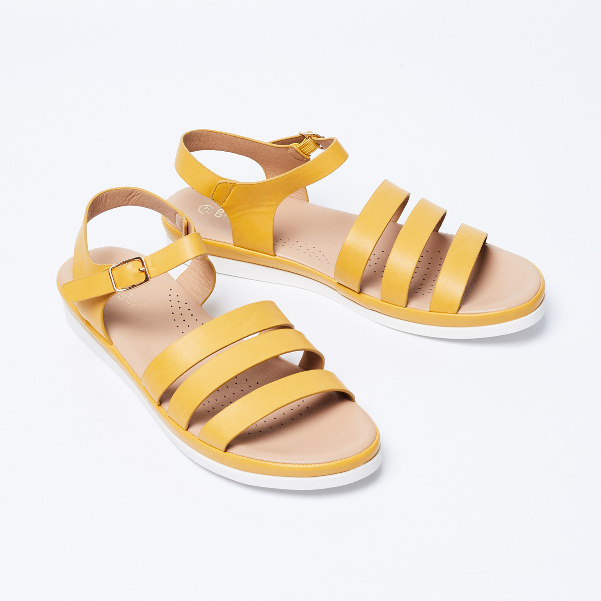 GINGER Solid Buckle Closure Flatforms