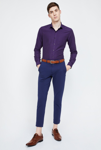CODE Dobby Textured Slim Fit Formal Shirt