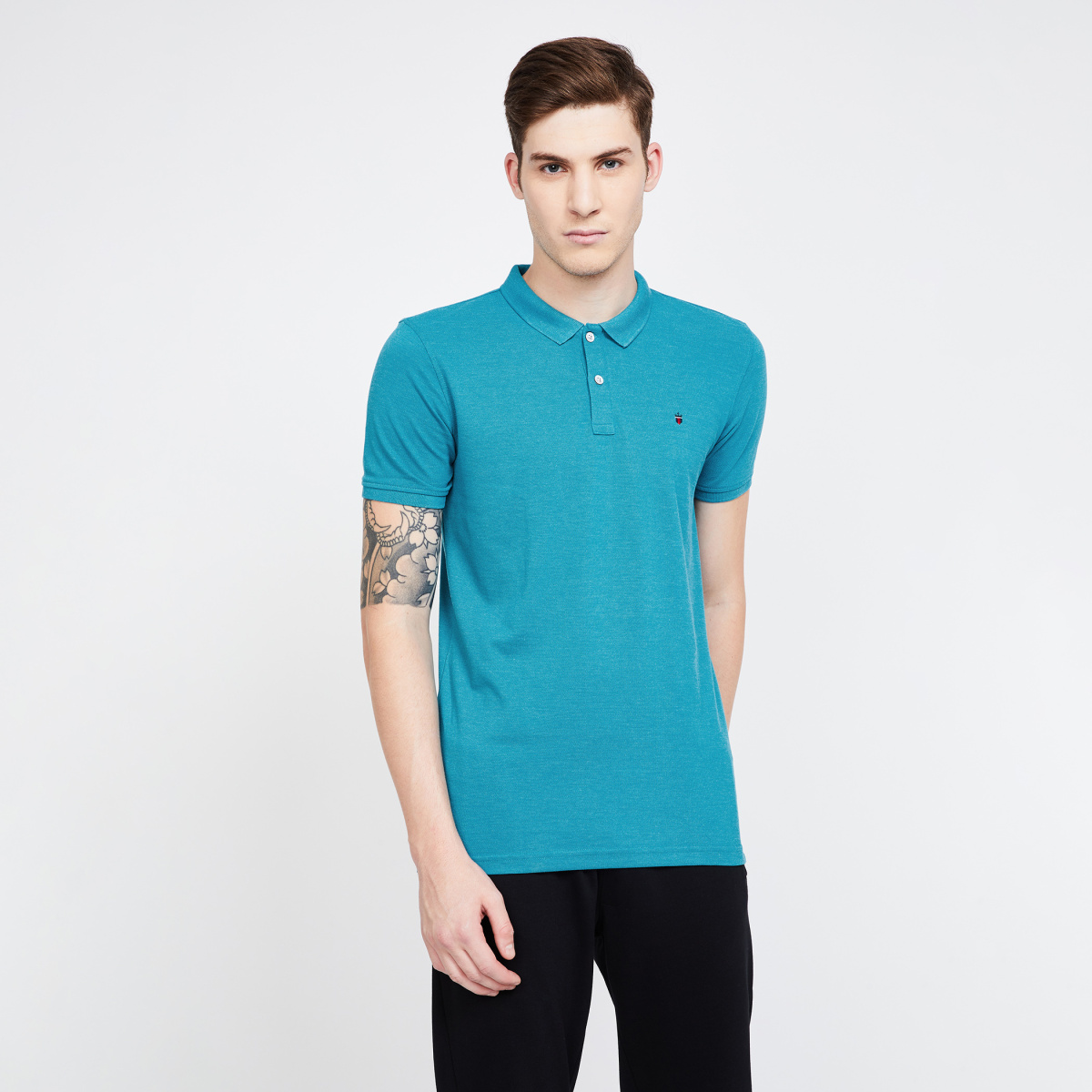 LP Solid Regular Fit Polo T-shirt