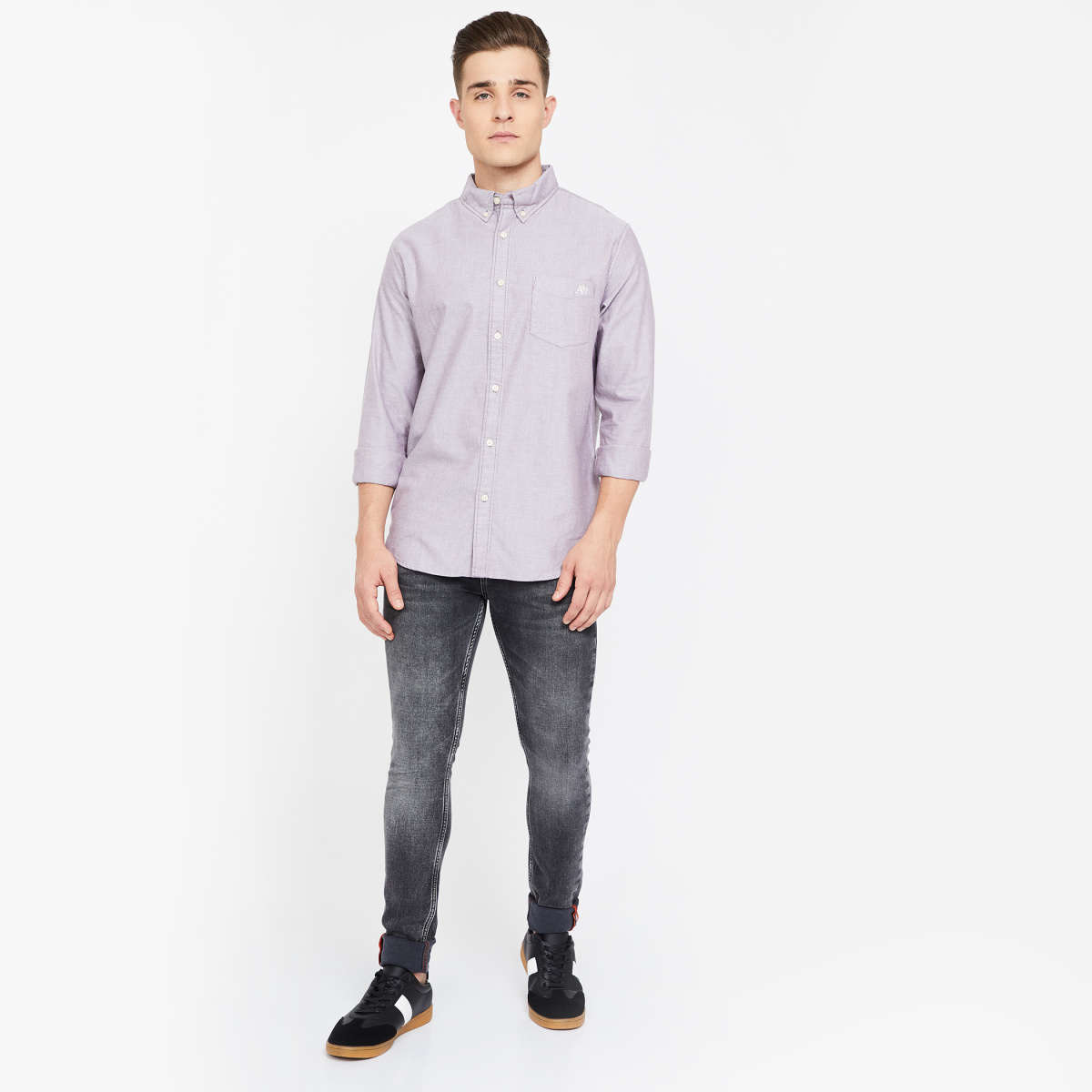 AEROPOSTALE Solid Slim Fit Casual Shirt