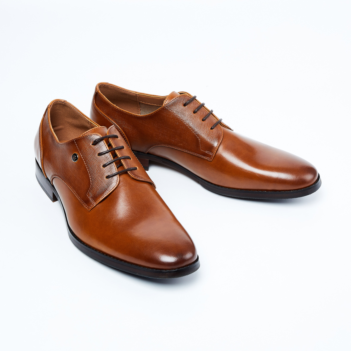LOUIS PHILIPPE Solid Leather Derby Shoes