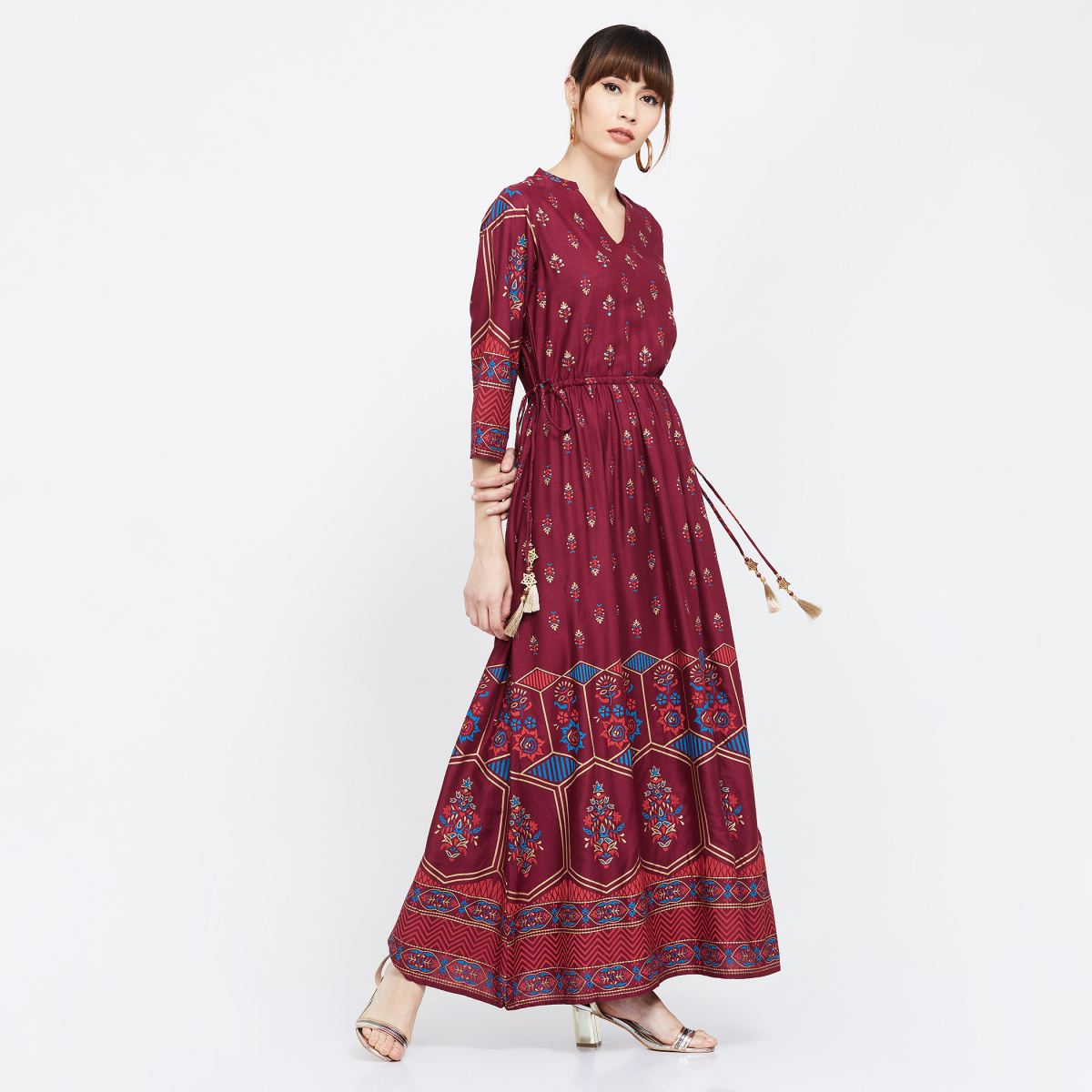 SHREE Printed Maxi Dress