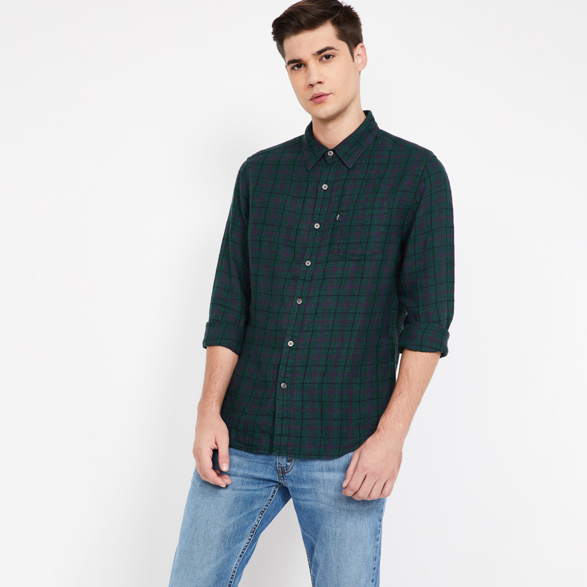 LEVI'S Checked Full Sleeves Regular Fit Shirt