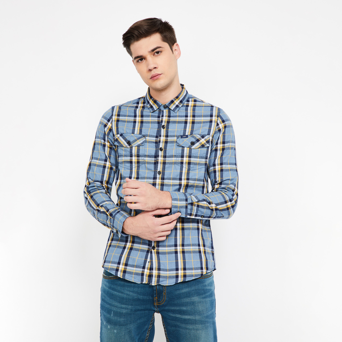 LEE Checked Full Sleeves Slim Fit Shirt
