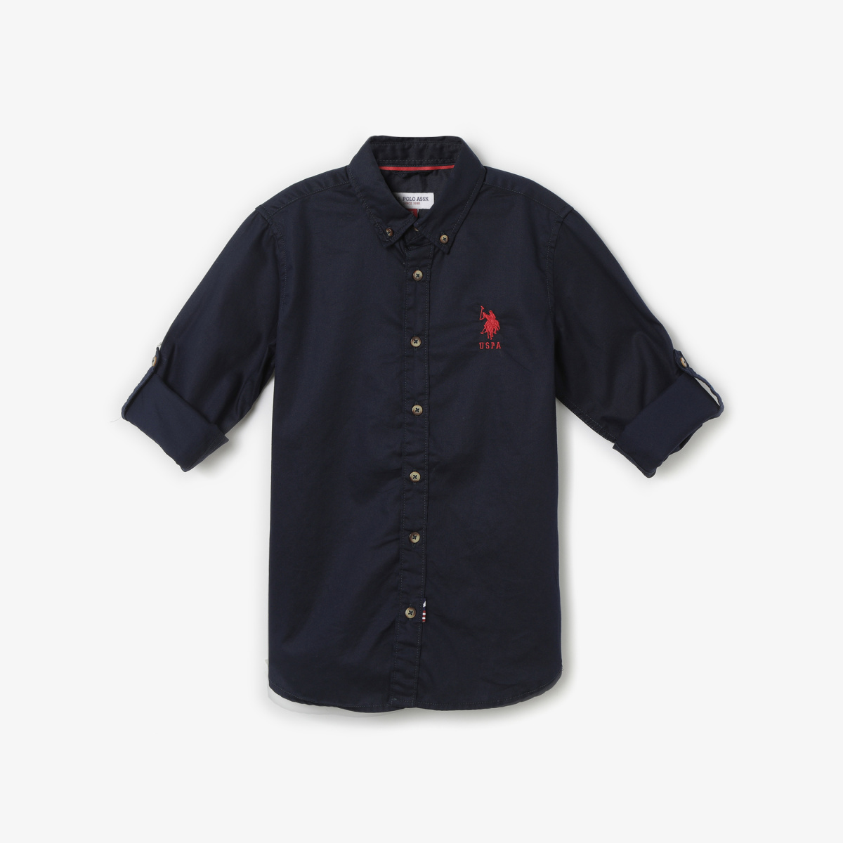 U.S. POLO ASSN. KIDS Solid Shirt with Button-Down Collar