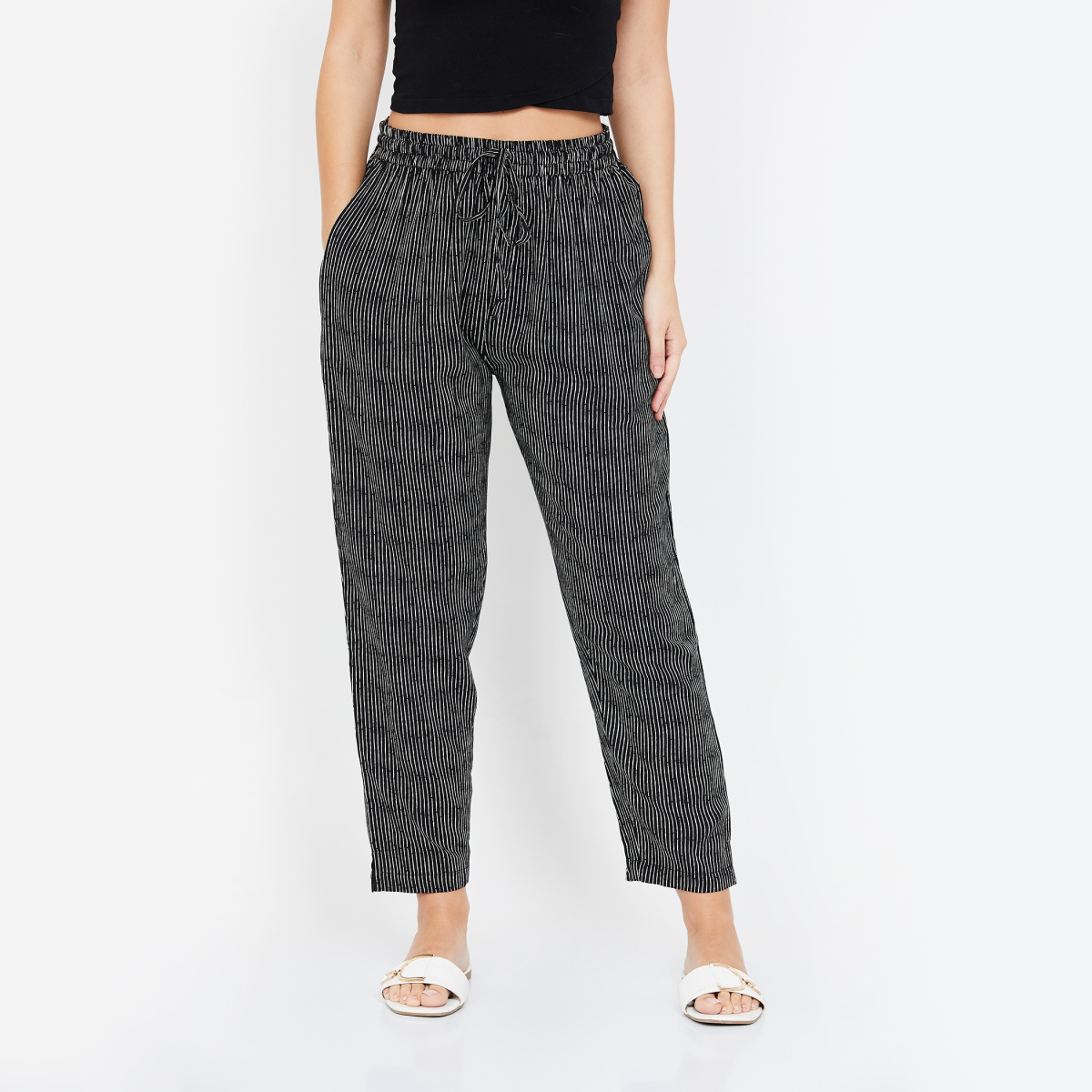 AMUKTI Striped Woven Pants