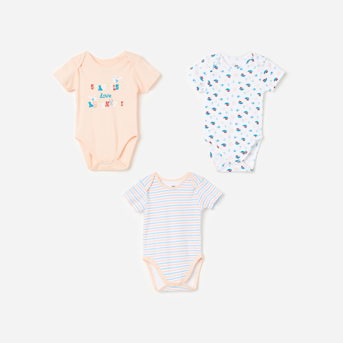 FS MINI KLUB Boys Printed Bodysuit- Pack of 3