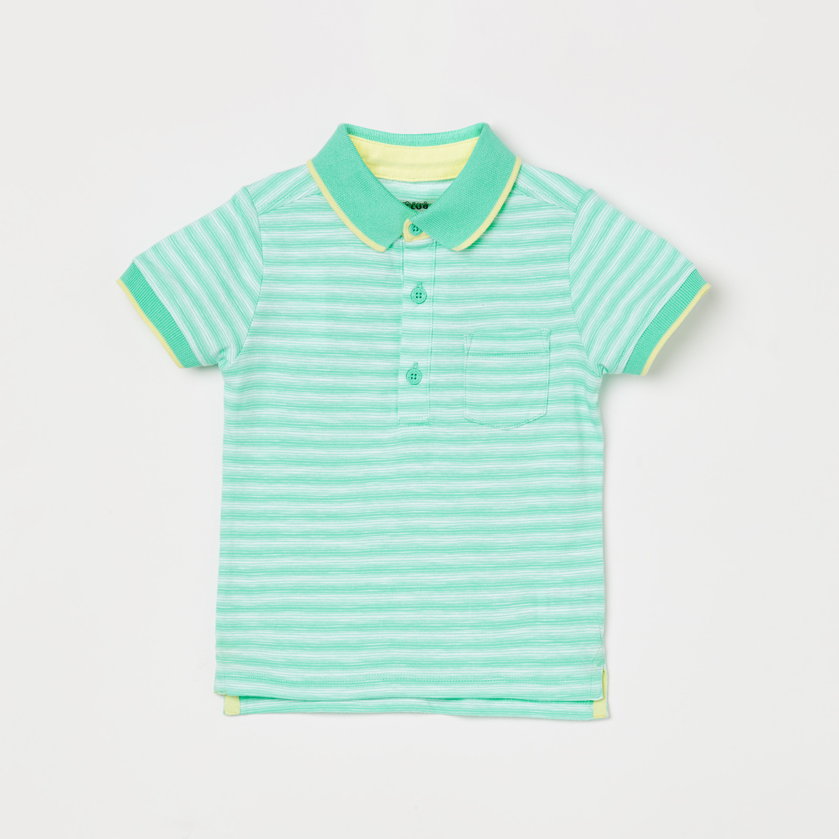 FS MINI KLUB Striped Print Short Sleeves Polo T-shirt