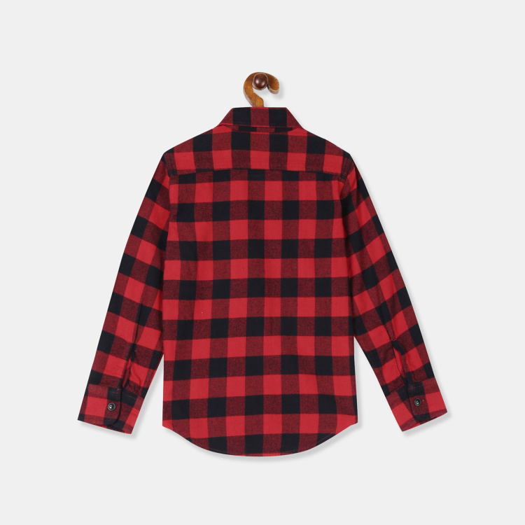 GAP Boys Checked Full Sleeves Casual Shirt