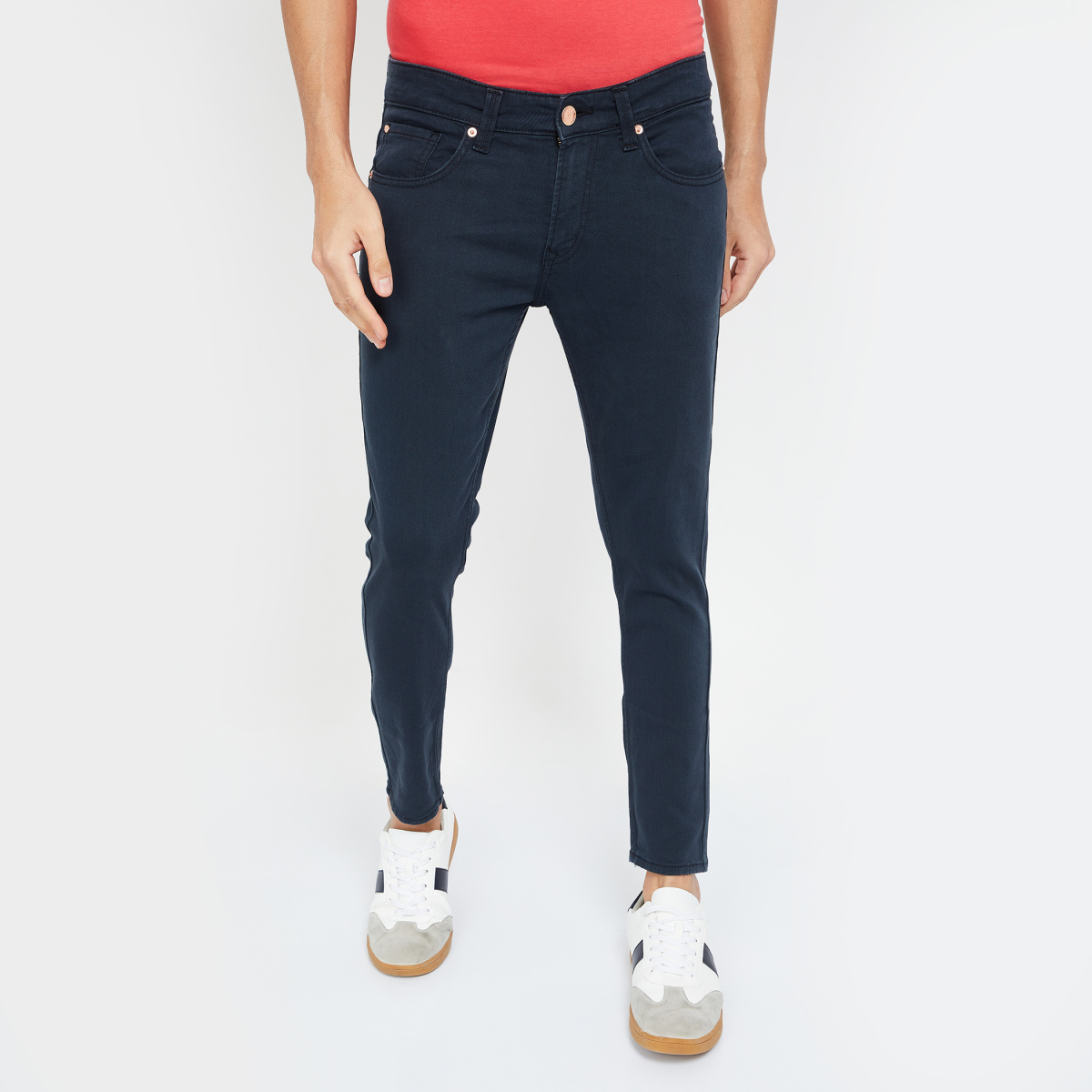 SPYKAR Solid Slim Tapered Jeans