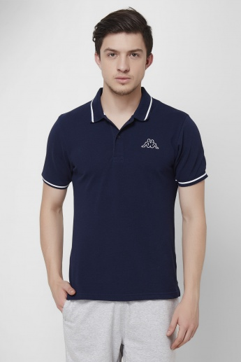 KAPPA Solid Polo Neck T-Shirt