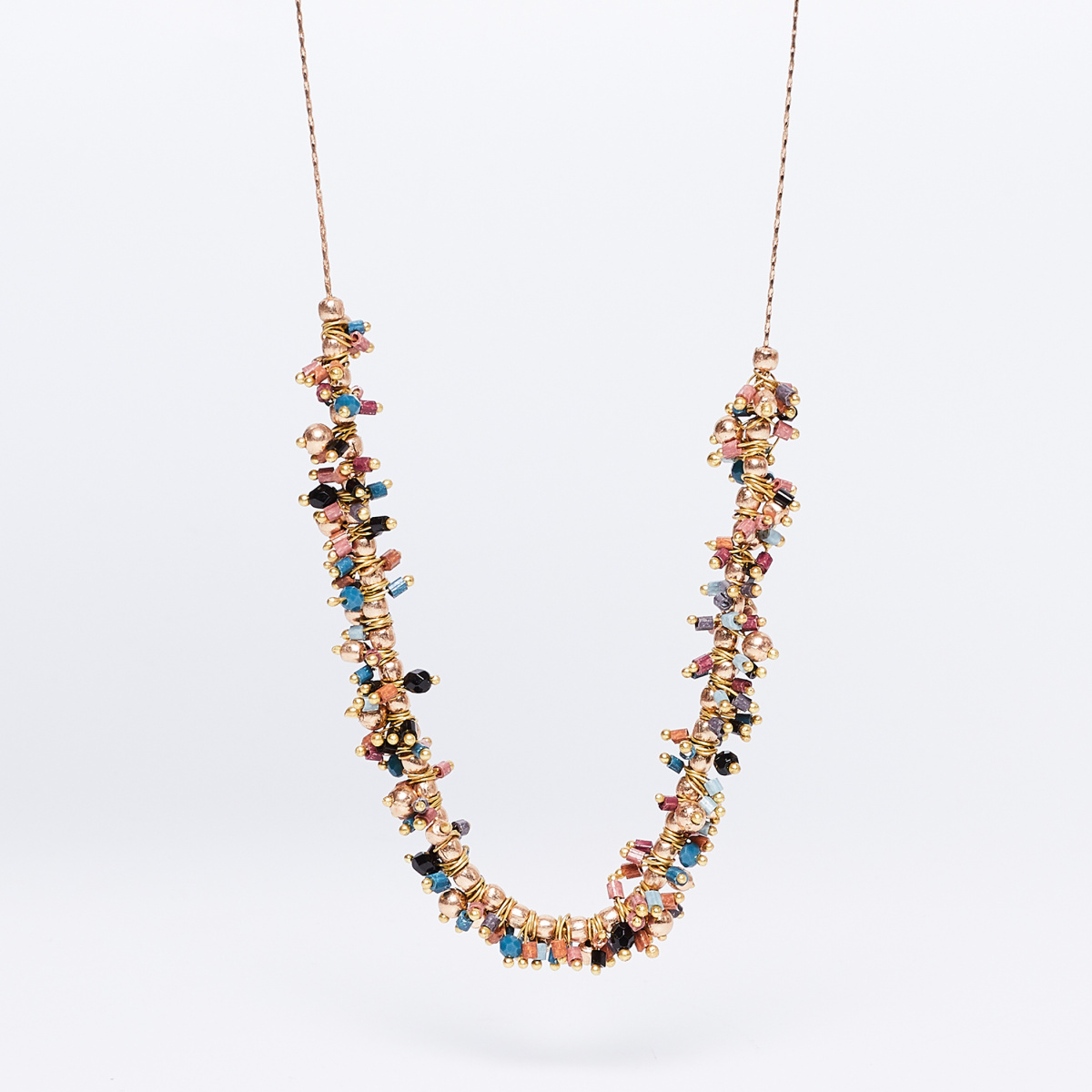 MELANGE Beaded Pendant Necklace